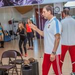 Фитнес-тренер Борис Лысенко проводит Booty-Pump Training в студии Grand Diamond