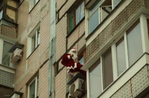 Дед Мороз в окно! Новая услуга в Grand Diamond